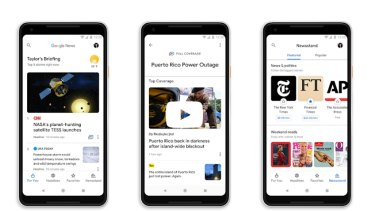 Google's news app on phones.