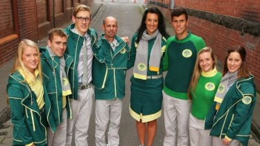 Australia's uniform for the Glasgow Commonwealth Games, starting later this month.