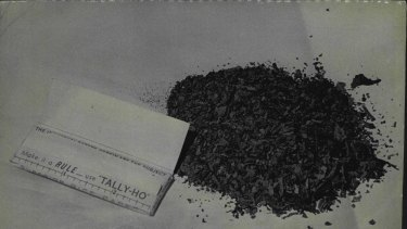 Locally-made marijuana bought by Fairfax reporter in a King's Cross coffee lounge, on June 15, 1967.