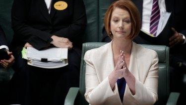 'Difficult days' ... Julia Gillard.