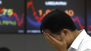 Under pressure ... Australian stocks plunged more than 4 per cent.