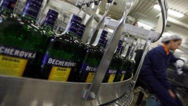 Jan Becher, the traditional maker of Becherovka liquor prepares for a two-day shut down.