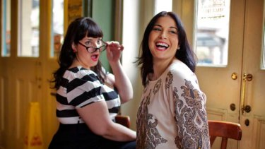 The runway is calling … Yvette Coyne, left, and Tanya Griggs will take part in the Big is Beautiful plus-size show as part of Fashion Festival Sydney.
