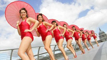 Kellogg's bevvy of beauties: Special K's plus-sized models on parade in London.