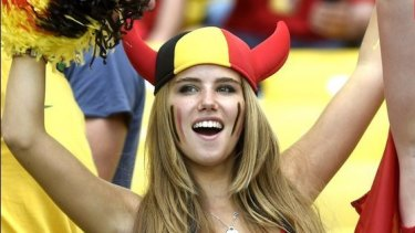 More than a face in the crowd: Axelle Despiegelaere shot to social media stardom during the World Cup to score a deal with L'Oreal.