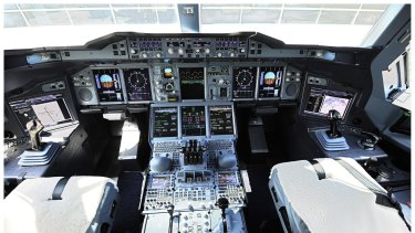 The highly sophisticated A380 flight deck.