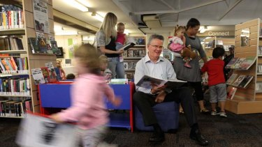 ''Using information, learning and reading are not just solitary activities'' … Alex Byrne at the Warilla library.