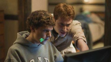 Face facts: Jesse Eisenberg (left) abd Joseph Mazzello in <i>The Social Network</i>.