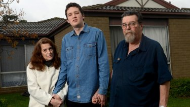 Stephen and Renee Lennon with their son Declan at their Werribee house.