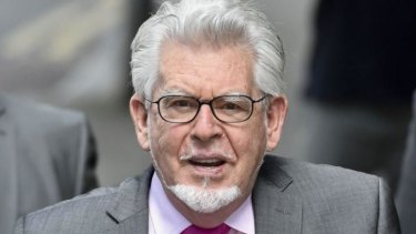 Rolf Harris arrives at Southwark Crown Court in London.