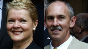 Divided they stand ... councillors Marcelle Hoff and Phillip Black