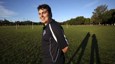 Working out: UTS student Daniel Borzuola has had an internship at AFL, NSW/ACT.