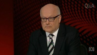 "Attorney-General George Brandis: ""This is not a law about journalists, this is no more about journalists than drink-driving is about journalists."""