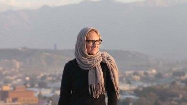 Eva Orner in Kabul.