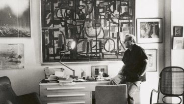 Patrick White in his study in 1973.