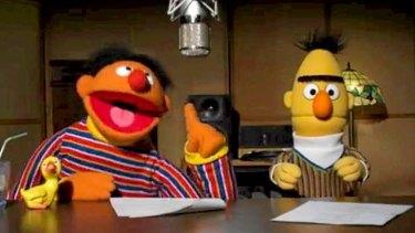 Sesame Street characters Bert and Ernie.