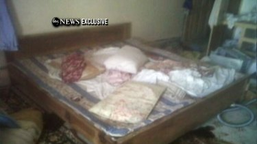 A section of a room inside the compound where bin Laden is believed to have lived.