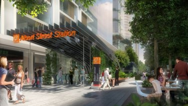 An artist's impression of the Albert Street Station, part of the yet-to-be-funded Cross River Rail Project.