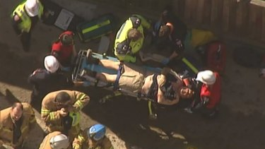 One man has died in the collapse which left another worker badly injured (pictured).