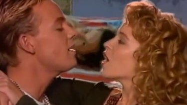 Kylie Minogue and Jason Donovan star in their 1988 music video Especially For You.