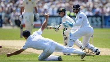 Overshadowed: Phil Hughes scored 81 as Ashton Agar blasted the England bowlers.