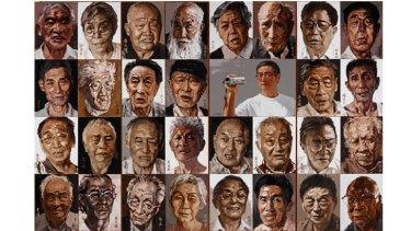 Xu Wang's Archibald Prize entry entitled <i>Self-portait</i>.