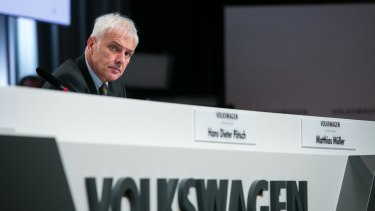 "VW CEO Matthias Mueller at Thursday's news conference: ""We don't need yes men, but managers and engineers who make good arguments."""