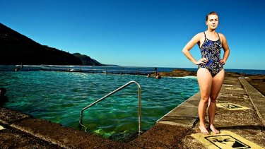 Angry: Vivienne Moxham-Hall, pictured at the Coalcliff Ocean Pool, says it's ''absolutely crazy'' that she is unable to compete.