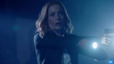 Gillian Anderson as Dana Scully in the sneak peek <i>X-Files</i> video released this week.