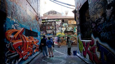 The derelict former MTC building in Hosier Lane behind The Forum theatre that will be replaced by a 32-level tower.