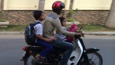 People mover: School run Phnom Penh