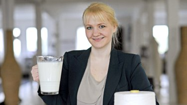 Silky and good for you too? ... designer and microbiologist Anke Domaske says milk fabric has health benefits.