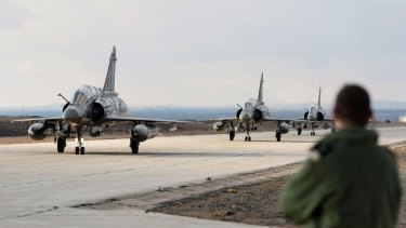 French Mirage fighter jets land in Jordan to take part in the fight against the Islamic State group.