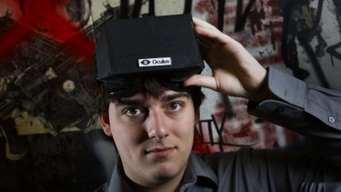 Palmer Luckey, the creator of the Oculus Rift virtual reality gaming headset. Facebook announced on March 26, 2014, that it was buying Oculus for $2 billion, signaling its belief in virtual reality as an essential platform for future growth.