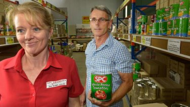Devastated: Factory outlet supervisor Jodie Ryan and co-owner Andrew Prentice.