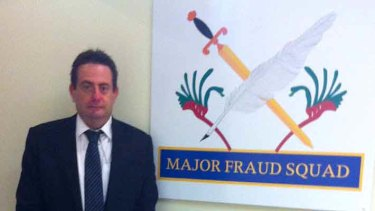 Sniffing out anew scam ... Detective Robert Martin form the Major Fraud Squad.