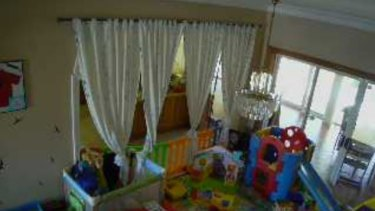 A baby's play-pen inside another Sydney property.