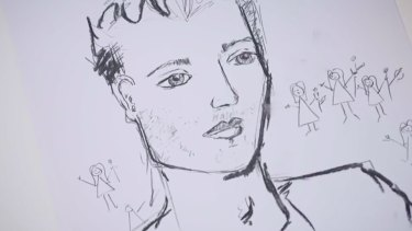Jewellery designer Laura is a dab hand at art, after sketching Matty J on her private Bachelor date.