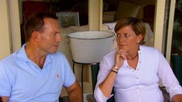 Tony Abbott and sister Christine Forsterin.