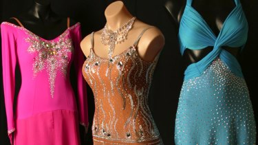 Hankering to make your own dancesport finery, like these June Designs gowns? Try Pascoe Vale's Trimmings 'N' Remnants.