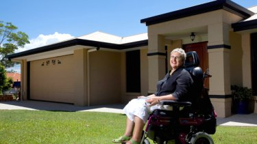 Muscular dystrophy sufferer Belinda Wardlaw at the Sunshine Coast holiday house where she organises for people with disabilities to stay.