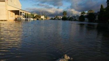 A flooded Rockhampton.