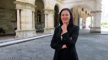 Annastacia Palaszczuk during her time as Transport Minister in the Bligh government.