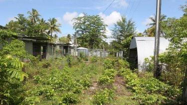 The desolate Manus Island detainee facility.