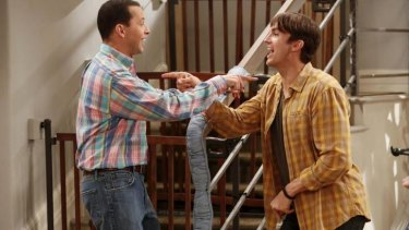 <i>Two and a Half Men</i> actors John Cryer and Ashton Kutcher took home a combined $US35 million.