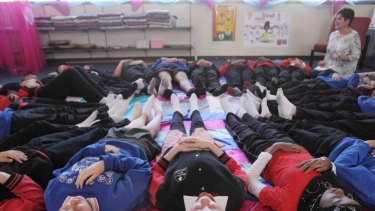 Mindful meditation at Fountain Gate Primary School.