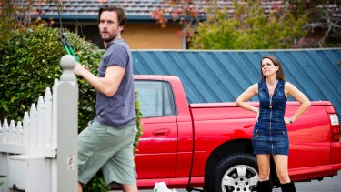 Dave Thornton and Michala Banas in <i>Upper Middle Bogan</i>, one satire of working class life.