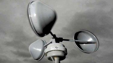 Anemometer - measuring the wind speeds.