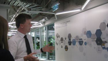 Westpac's group general manager core transformation, Les Vance, at the new centre.