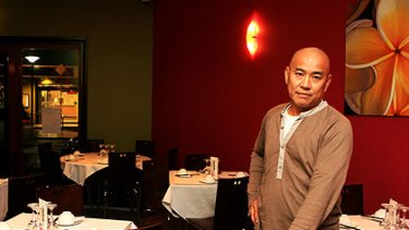 Named and shamed ... restaurant owner Andrew Lum in Satasia, which has operated in Balmain for three decades.
